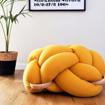 Knot Floor Cushion (Mustard)