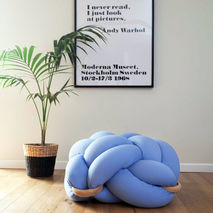 Knot Floor Cushion (Light Blue)