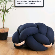 Knot Floor Cushion (Dark Blue)