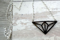 GEO TRI DELTA NECKLACE