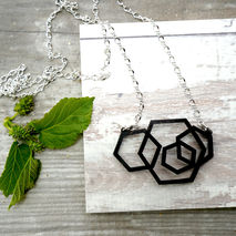CONNECTED HEX MODERN NECKLACE