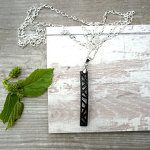 PANEL PENCIL PENDANT NECKLACE