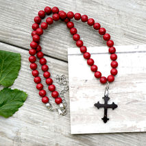 COCONUT CROSS NECKLACE