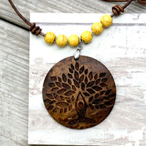 YOGA NECKLACE - LOTUS TREE PENDANT