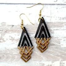 COCONUT DIPPED GOLD CHANDELIER EARRINGS
