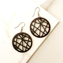 SPHERE WOOD EARRINGS