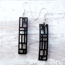 MODERN EARRINGS - RECTANGULAR PANEL
