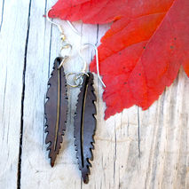 BOHO FEATHER EARRING