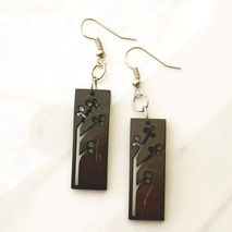COCONUT RECTANGULAR EARRINGS