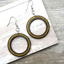 YELLOW COCONUT HOOP EARRINGS