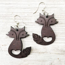 COCONUT FOX EARRINGS