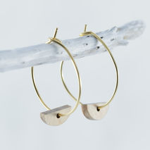 HALF MOON HOOPS BEECH