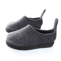 Women's Organic Wool Shoes Monochrome Cat