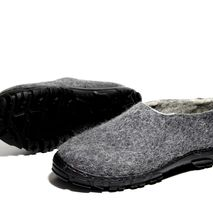 Men's Organic Wool Shoes Charcoal