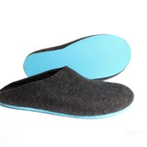 Mens Wool Clogs Black Sky