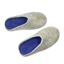 Mens Wool Clogs Blues