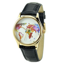 Colorful World Map Watch - Unisex - Free shipping worldwide