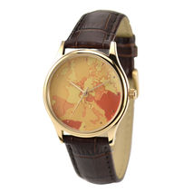 Warm Colours Europe Map Watch Unisex Free shipping worldwide