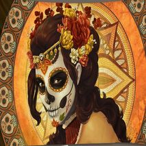 Wall Tapestry/Throw Skull Face Lady
